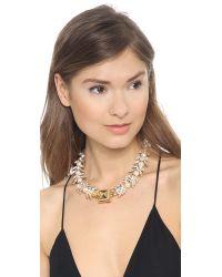 Fallon - Metallic Wreather Choker Necklace - Lyst