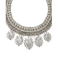 BCBGMAXAZRIA - Metallic Wovenchain Statement Necklace - Lyst