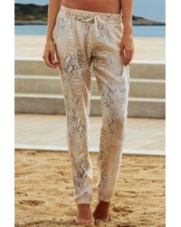 Melissa Odabash | White Lizard Print Trousers | Lyst