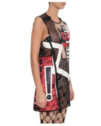 KTZ - Multicolor Faux Leather Dress With Patch - Lyst