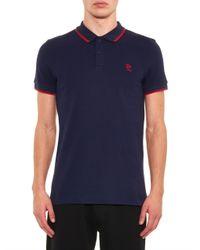 McQ - Blue Logo Polo Shirt for Men - Lyst