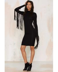 Nasty Gal | Under Your Wing Mock Neck Dress - Black | Lyst