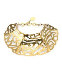 Josie Natori - Metallic Cutout Collar Necklace - Lyst