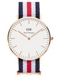 Daniel Wellington - Blue Classic Canterbury Watch - Lyst