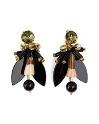 Marni | Black Winged Earrings | Lyst