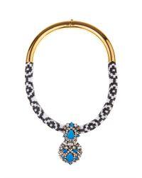 Shourouk - Blue Zulu Gold-Plated Swarovski Necklace - Lyst