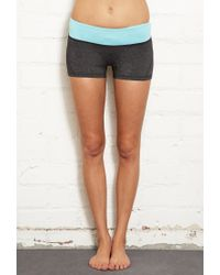 Forever 21 | Blue Heathered Performance Shorts | Lyst