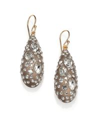 Alexis Bittar | Metallic Jardin Mystere Lucite & Crystal Teardrop Earrings | Lyst