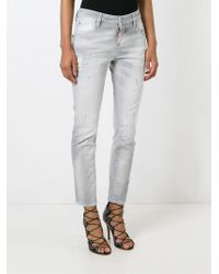 DSquared² - Gray 'cool Girl' Jeans - Lyst