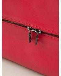Isaac Reina - Red Zipped Wash Bag - Lyst