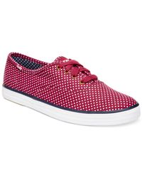 Keds | Red Champion Micro Dot Fashion Sneakers | Lyst