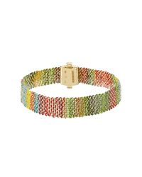 Carolina Bucci | Metallic 18k Gold Bracelet With Silk - Multicolor | Lyst