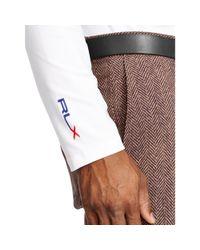 Ralph Lauren | White Stretch Mockneck Shirt for Men | Lyst