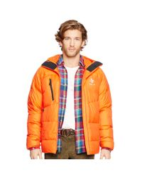 Ralph Lauren | Orange Water-resistant Down Jacket for Men | Lyst