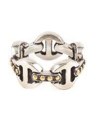 Hoorsenbuhs | Metallic Classic Tri-link Ring | Lyst