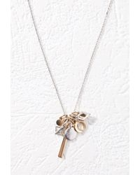 Forever 21 | Metallic Mixed Geo Charm Necklace | Lyst