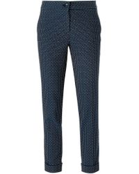 Etro - Blue Printed Slim Trousers - Lyst