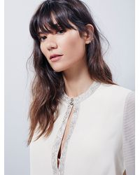 Free People | Natural Midnight City Embroidered Top | Lyst