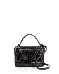 Ferragamo - Black Mini Bag - Ginny Glitter - Lyst