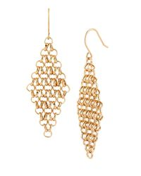 Kenneth Cole | Metallic Citrus Slice Goldtone Mesh Drop Earrings | Lyst