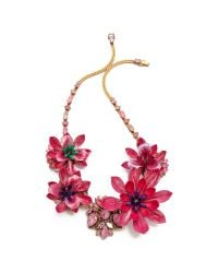 Erickson Beamon | Urban Jungle Floral Necklace Pink | Lyst