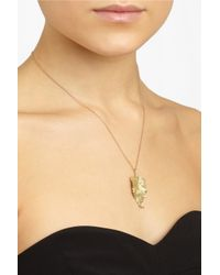 Ana Khouri - Metallic Leaf 18karat Gold Diamond Necklace - Lyst