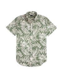 J.Crew - Green Secret Wash Short-sleeve Shirt In Fern Print for Men - Lyst