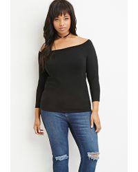 Forever 21 - Black Plus Size Classic Raglan Sweater - Lyst