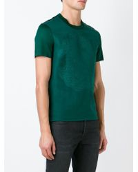 Alexander McQueen | Green Embroidered Skull T-shirt for Men | Lyst