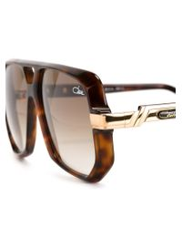 Cazal | Brown '627' Aviator Sunglasses | Lyst