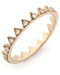 Kismet by Milka - Metallic Gold Crown Ring - Lyst