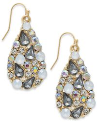 INC International Concepts | Metallic Gold-tone Multicolor Teardrop Earrings | Lyst