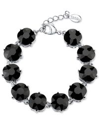2028 | Metallic Silver-tone Black Faceted Bracelet | Lyst