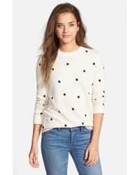 Stem - Natural Polka Dot Sweatshirt - Lyst