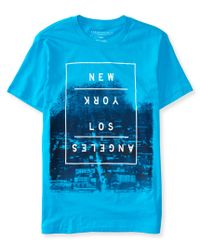 Aéropostale | Blue New York Los Angeles Graphic T | Lyst