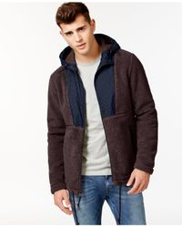 American Rag | Red Men's Fuzzy Feeling Jacket for Men | Lyst