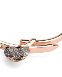 Juicy Couture | Metallic Pave Heart Hinge Bracelet | Lyst
