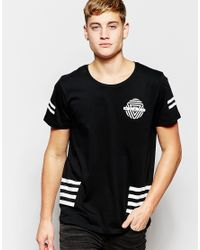 Jack & Jones - Black Skater T-shirt With Back Print for Men - Lyst