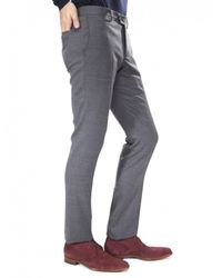 Jules B - Gray Tapered Wool Trousers for Men - Lyst