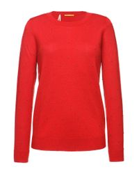 BOSS Orange | Red 'widy' | Virgin Wool Cashmere Beaded Sweater | Lyst
