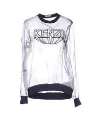 KENZO - Gray Blouse - Lyst