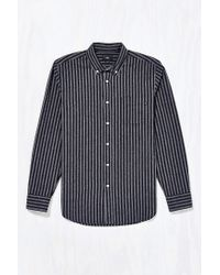 Obey - Gray Holmes Jaspe Stripe Button-down Shirt for Men - Lyst