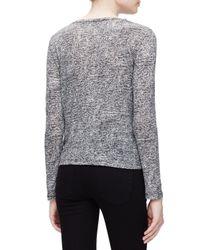 Proenza Schouler - Black Tissue Needle-punch T-shirt - Lyst