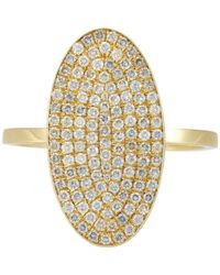 Jennifer Meyer - Metallic Oval Ring - Lyst