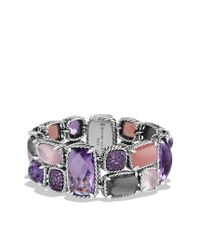 David Yurman | Purple Mosaic Bracelet with Lavender Amethyst Guava Quartz and Amethyst | Lyst