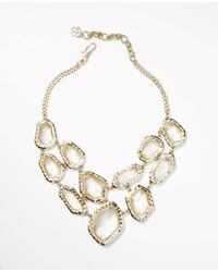 Ann Taylor | Metallic Villa Bib Necklace | Lyst