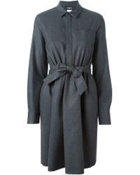 DSquared² - Gray Classic Shirt Dress - Lyst
