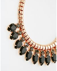 Ted Baker | Black Pear Drop Necklace | Lyst