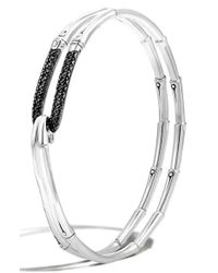 John Hardy | Metallic 'bamboo - Lava' Hook Bracelet | Lyst