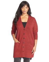 Sejour | Purple 'core' Wool Blend V-neck Cardigan | Lyst